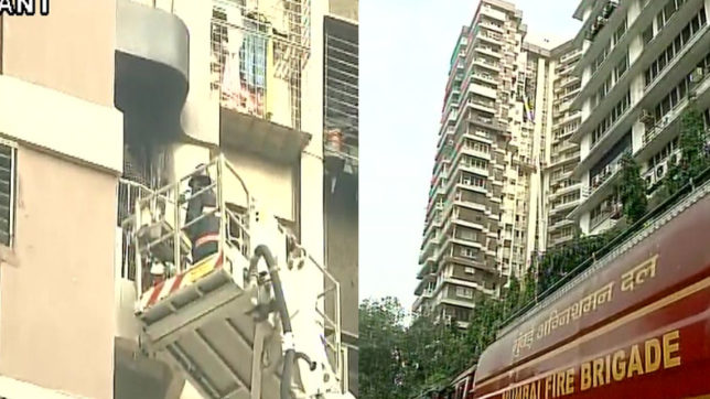 Fire breaks out in Maker Tower in Cuffe Parade area in Mumbai