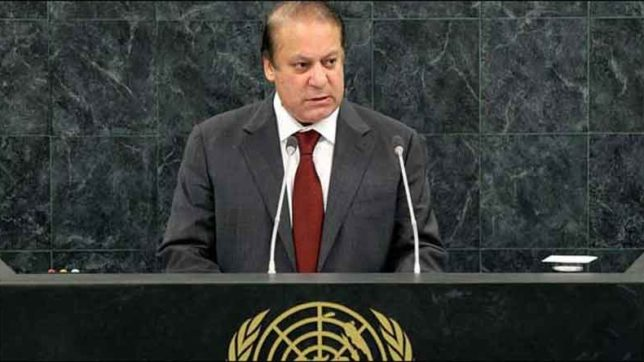 Nawaz Sharif again raises the issue if Kashmir in UN claims false allegations on India, no answer
