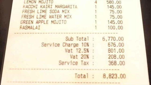hotels cant charge you service charge as tax