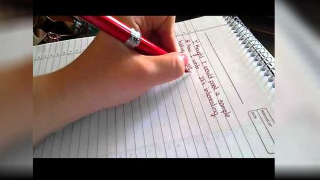 left-hand-handwriting