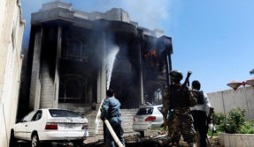 Indian embassy kabul rocket attack