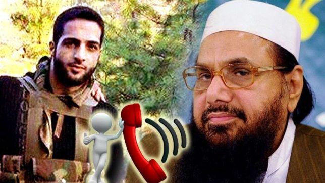 Hafiz Muhammad Saeed‬, ‪Burhan Muzaffar Wani, Hafiz Audio Tape with Burahan, Jammu & Kashmir, Militancy in Kashmir, Lashkar Chief