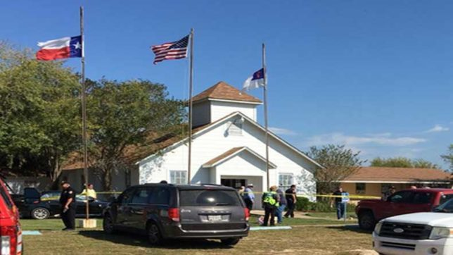 Texas church shooting, Mass shooting, US, Sutherland Springs, black tactical-style gear, President Donald Trump, अमेरिका टेक्सस चर्च फायरिंग, Texas shooting, Church shooting