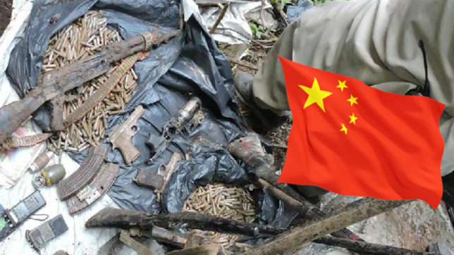 Chinese Flag, Recover, Terror Hideout, Baramulla, 44 People Arrested,  JK, Jammu Kashmir, Bombs, Jem Letter Head, Seized, Ammunation, Raid