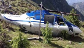 Helicopter crash at badrinath one engineer died