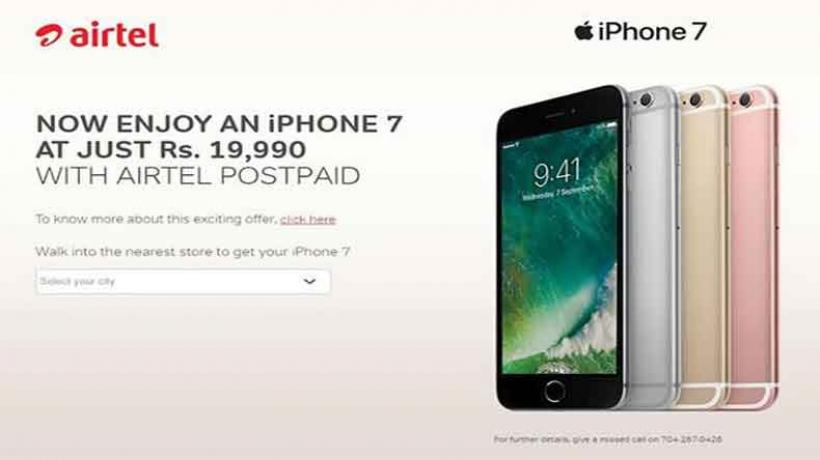 airtel offer of iphone 7 for rupees 19,990 is misleading
