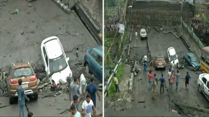 Bridge collapsed in south Kolkata