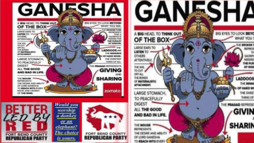 Ganesh Chaturthi Ad by Republican Party Indian Herald Paper