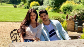 Sooraj Pancholi and Isabelle Kaif clicked on the sets of Time To Dance