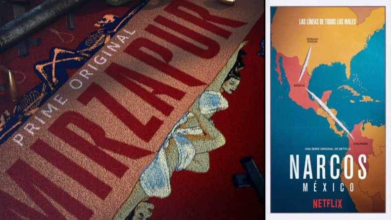 Amazon prime Mirzapur and Netflix Narcos will release on same date