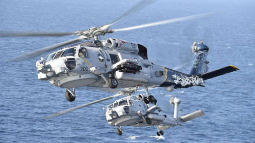 MH 60 Romeo Seahawk helicopters