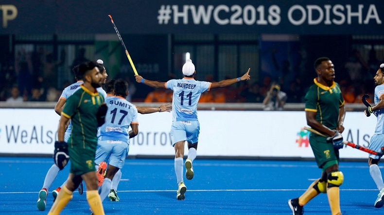 india vs south africa hockey world cup 2018