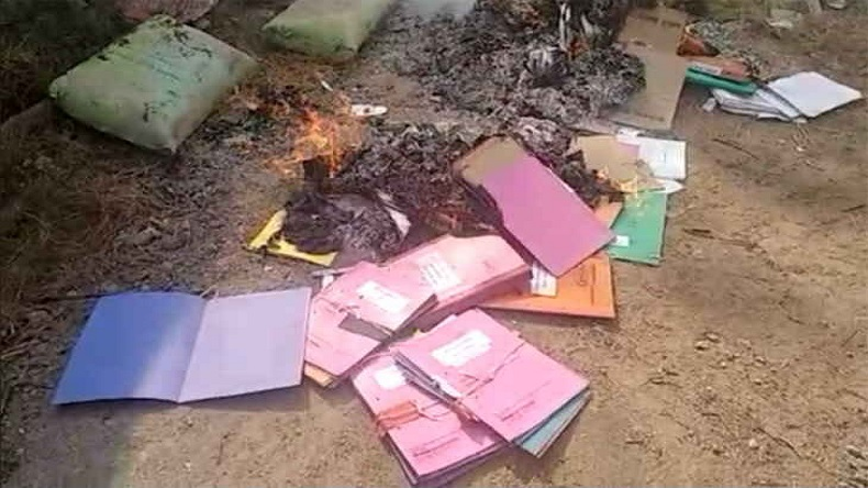 Intelligence Burned Files in Chhattisgarh