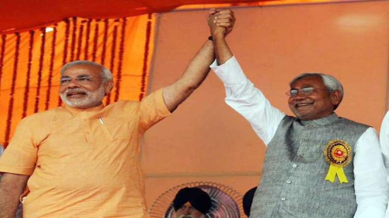 Narendra Modi and Nitish Kumar led NDA tsunami in Bihar, NDA leads on 38 while opposition on just 2 seats