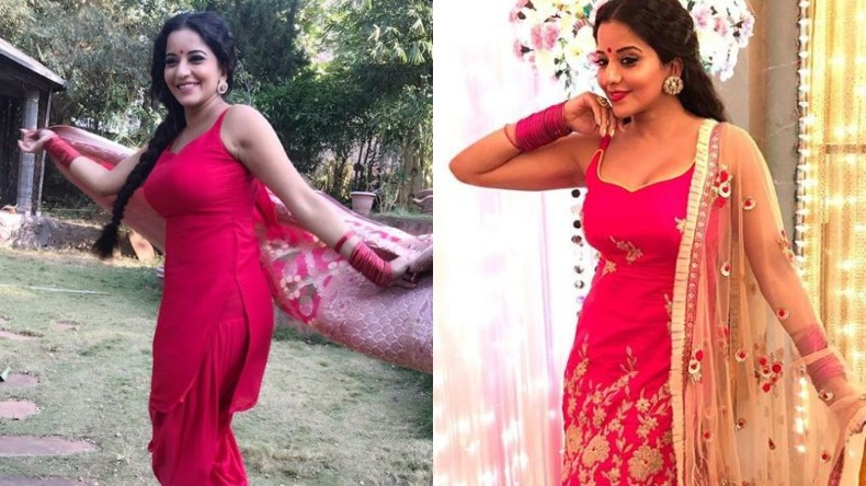 monalisa antara biswas Hot Sexy Instagram photos Videos in Pink Outfit