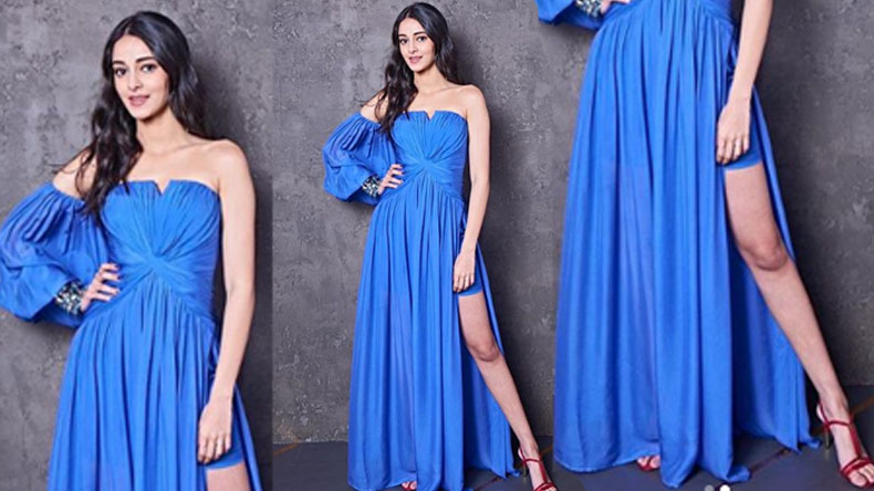 Ananya Pandey looks mesmerising in a sultry Blue gown