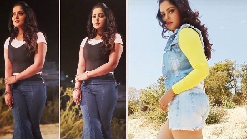 Bhojpuri Sensation Anjana Singh hot stunning hot look raises the temperature on Social Media