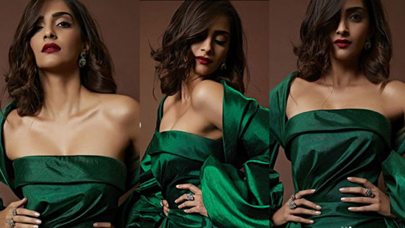 Sonam Kapoor slays in sultry green dress, watch video