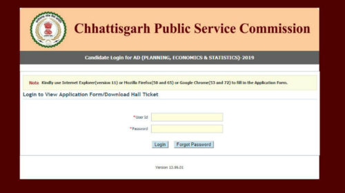 CGPSC Assistant Director Admit Card 2019 Declared