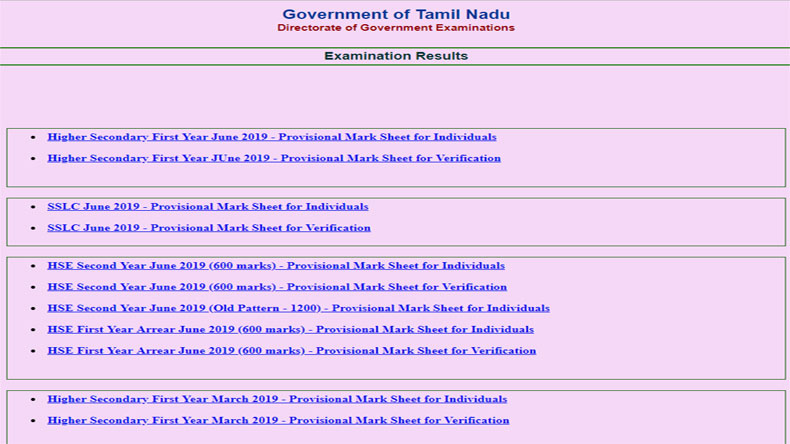 Tamil Nadu TN 11th Supplementary Result Declared