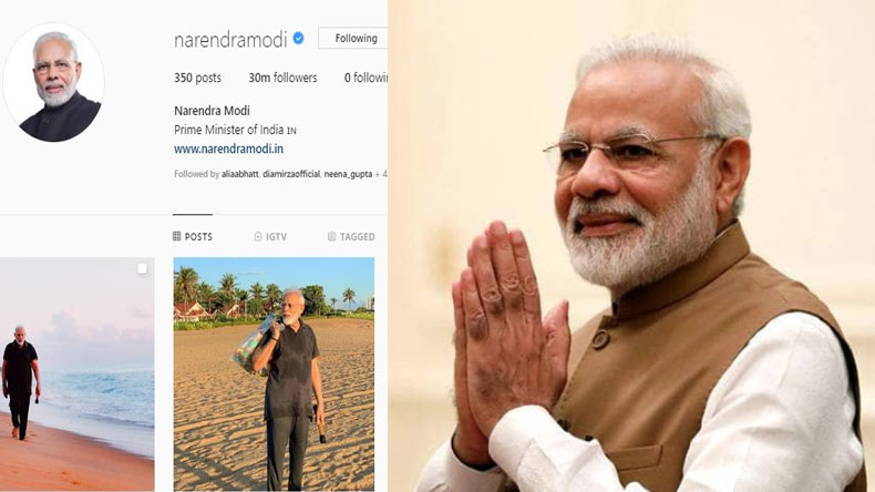 PM Narendra Modi 30 Million Instagram Followers