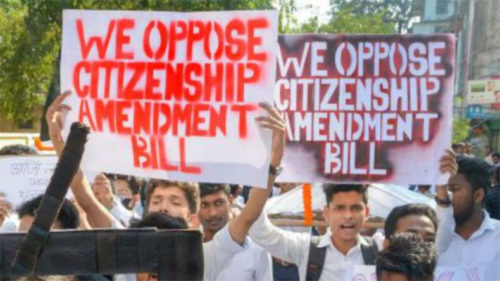Opposition on Citizenship Amendment Bill 2019