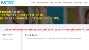 PSTET Admit Card 2018