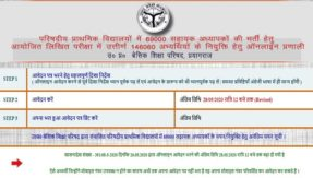 UP 69000 Assistant Teacher Recruitment 2020